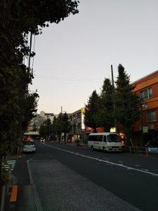 平成30年11月2日 夕方のとちの木通りです