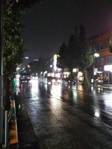 平成30年11月4日 今夜のとちの木通りです