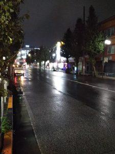 平成30年11月5日 夜のとちの木通りです