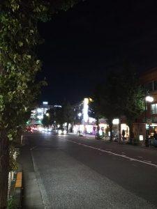 平成30年11月10日 夜のとちの木通りです