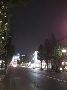 イマソラ 平成30年11月19日 夜のとちの木通りです