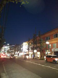 イマソラ 平成30年11月24日 夜のとちの木通りです