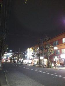 平成30年12月2日 夜のとちの木通りです