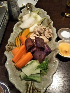 八王子野菜の温野菜