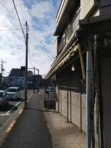 富士森公園北東から南に向かう道