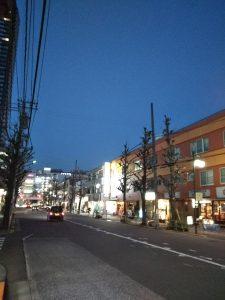 平成30年12月20日 夜のとちの木通りです