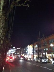 平成30年12月24日 夜のとちの木通りです