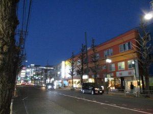 平成31年1月26日 夜のとちの木通りです