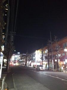 平成31年1月14日 夜のとちの木通りです