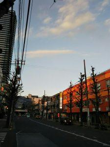 平成31年1月22日 夜のとちの木通りです