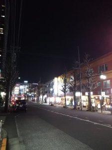 平成31年1月19日 夜のとちの木通りです