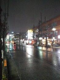 平成31年2月9日 夜のとちの木通りです