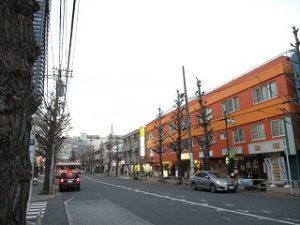 平成31年2月24日 夜のとちの木通りです