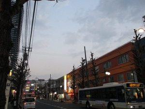平成31年2月26日 夜のとちの木通りです