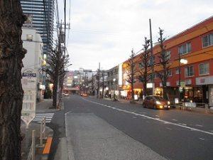 平成31年3月1日 夜のとちの木通りです