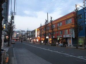 平成31年3月2日 夜のとちの木通りです