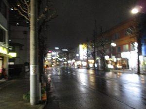 平成31年3月4日 夜のとちの木通りです