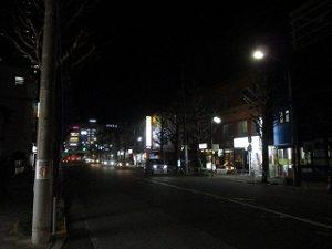 平成31年3月11日 夜のとちの木通りです