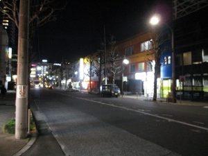 平成31年3月12日 夜のとちの木通りです