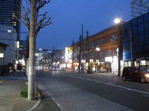 平成31年3月15日 夜のとちの木通りです