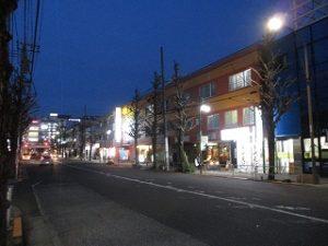 平成31年3月18日 夜のとちの木通りです