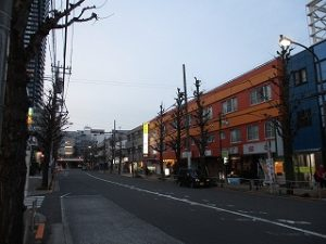 平成31年3月25日 夜のとちの木通りです