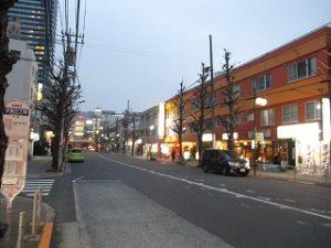 平成31年3月30日 夜のとちの木通りです