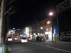 平成31年3月31日 夜のとちの木通りです