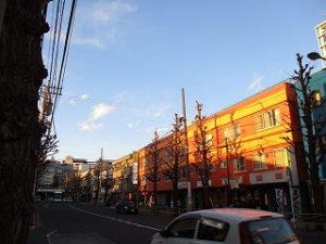平成31年4月2日 夜のとちの木通りです