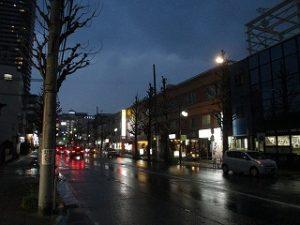 平成31年4月8日 夜のとちの木通りです