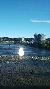 夕方の浅川