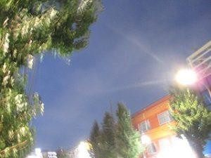 令和元年9月27日 夜のRoom's Bar上空です