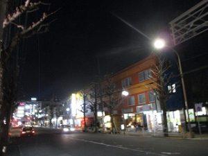 令和2年1月14日 夜のRoom's Bar前聖火リレーコースです