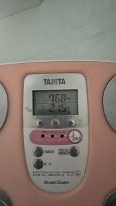 2020年3月29日 朝の体重と体脂肪