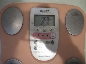 2020年3月30日 朝の体重と体脂肪