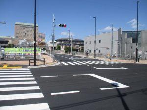 JR線路沿いからも車両通行できるように。