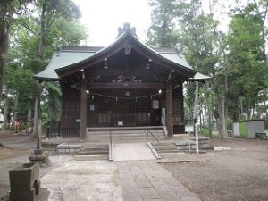 今朝の富士森公園の浅間神社です