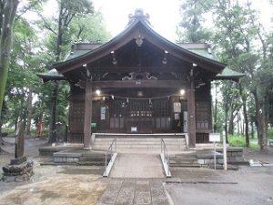 2020年7月4日 朝の富士森公園の浅間神社です