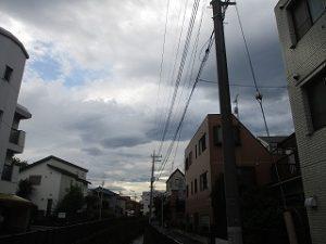 西の雲には青空も。。。