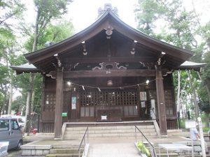 2020年7月11日 朝の富士森公園の浅間神社です