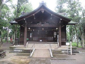 2020年7月23日 朝の富士森公園の浅間神社です