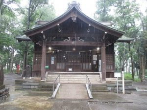 2020年7月26日 朝の富士森公園の浅間神社です