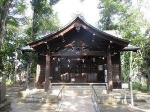2020年8月7日 朝の富士森公園の浅間神社です