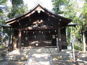 2020年8月14日 朝の富士森公園の浅間神社です