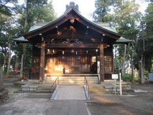 2020年8月15日 朝の富士森公園の浅間神社です