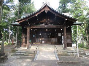2020年8月18日 朝の富士森公園の浅間神社です