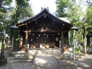 2020年8月25日 朝の富士森公園の浅間神社です