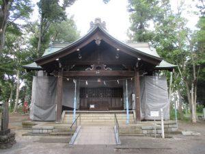 2020年8月28日 朝の富士森公園の浅間神社です