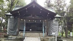 2020年9月6日 朝の富士森公園の浅間神社です