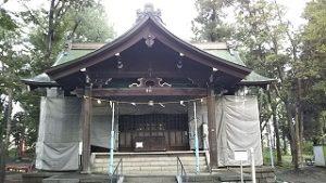 2020年9月7日 朝の富士森公園の浅間神社です